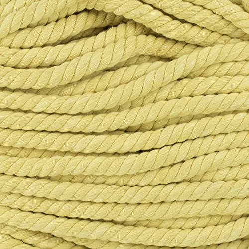 Twisted 3 Strand Natural Cotton Rope 40 and 100 Foot Kits in 1/4 Inch and 1/2 Inch – Soft Knot Tying Artisan Cord Decorative Crafting – Assorted Colors by West Coast Paracord (Image #3)