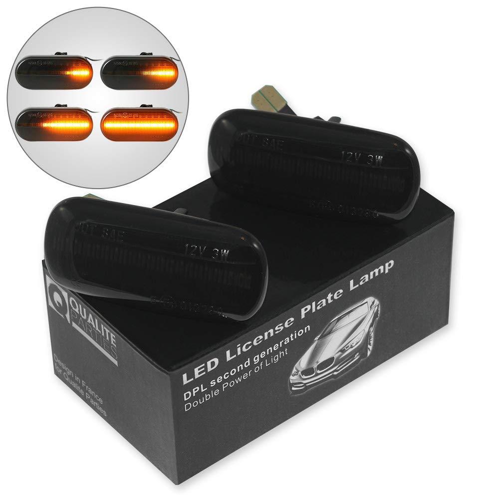 2 x LED Seitenblinker Blinker Dynamisch smoke schwarz Orange Gelb