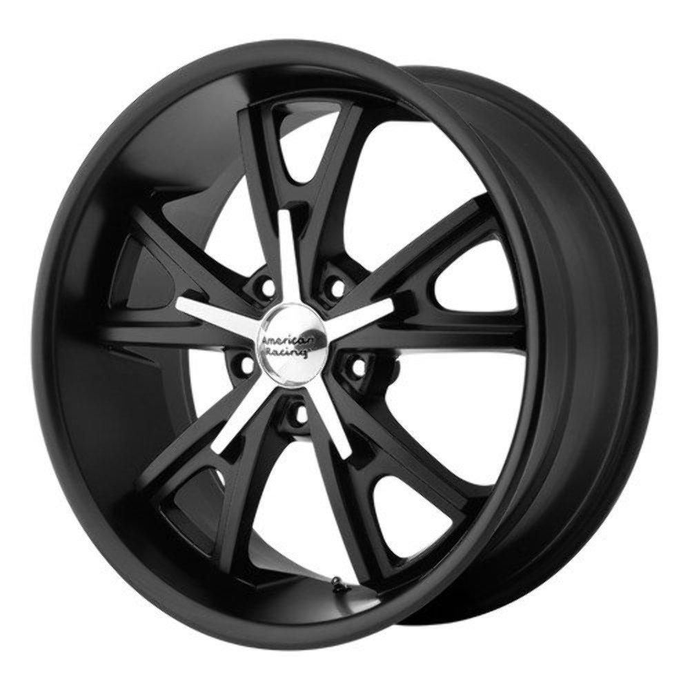 22x11 American Racing Daytona (Satin Black / Machined) Wheels/Rims 5x120 (VN80122149738)