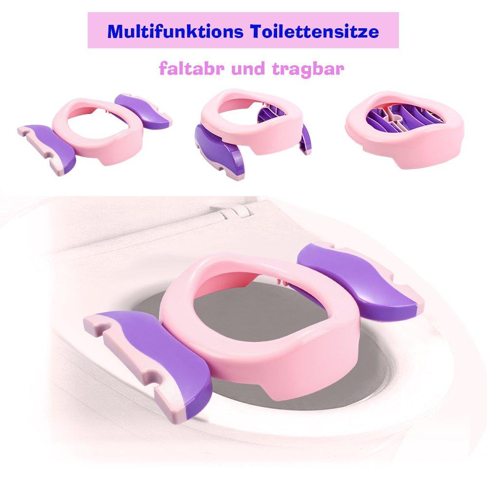 Colleer Siège pliable et transportable pour toilettes pour enfants/bébés, avec fonction antidérapante CLDE-ZBQ-R