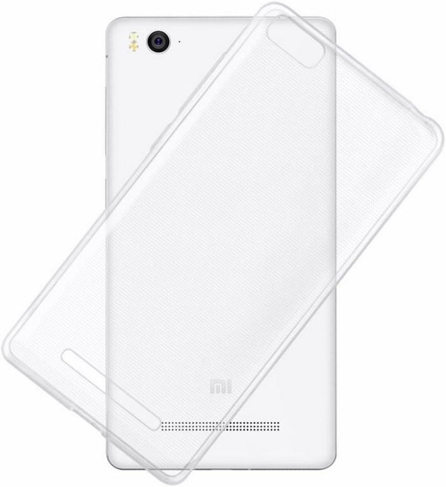 REY Funda Carcasa Gel Transparente para XIAOMI Mi4C Mi4i, Ultra Fina 0,33mm, Silicona TPU de Alta Resistencia y Flexibilidad