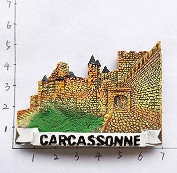 Imán 3D para nevera Carcassonne Francia Travel Sticker Souvenir, imán de nevera para decoración del hogar y la cocina: Amazon.es: Hogar