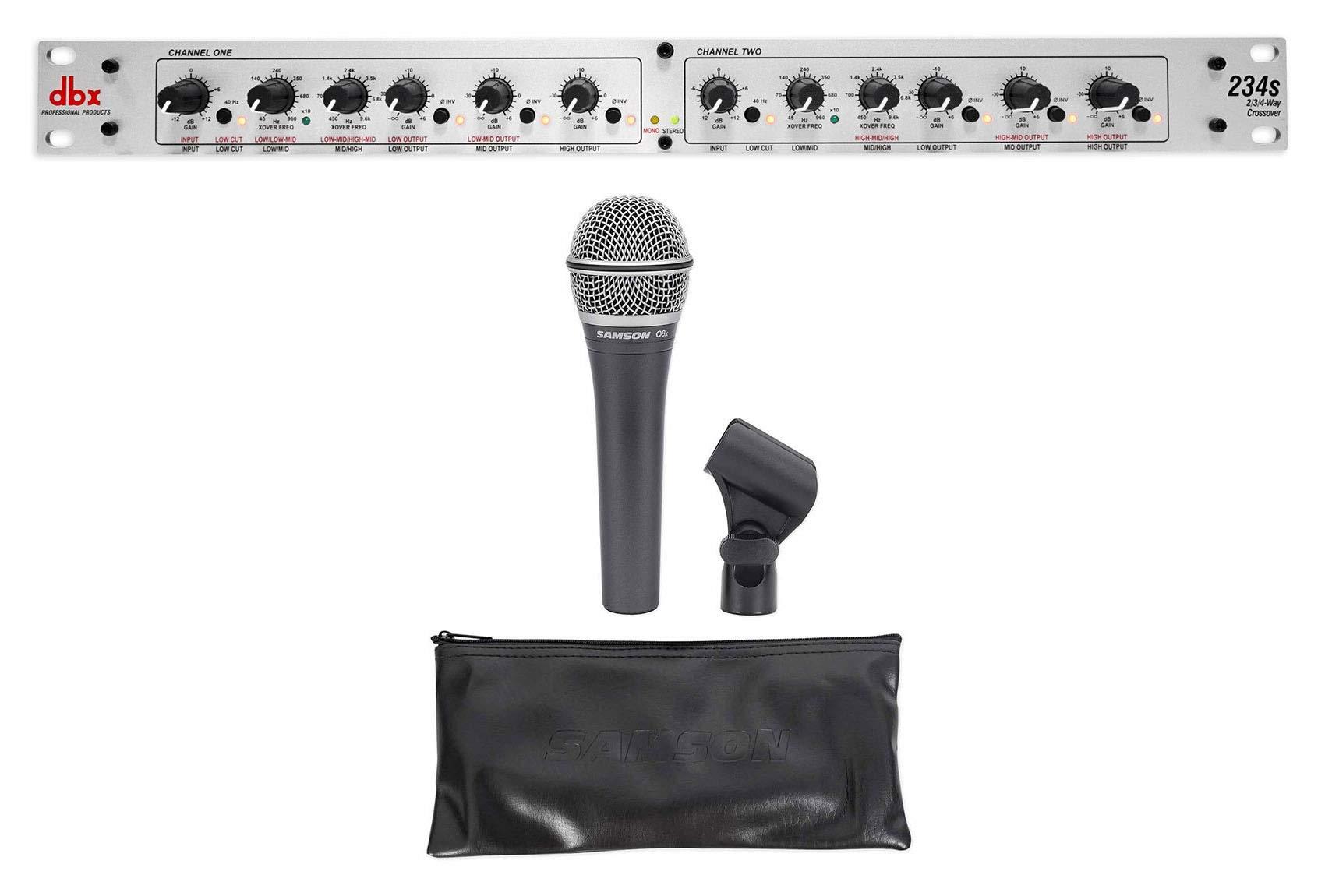 DBX 234S Stereo 2/3 Way/Mono 4-Way Crossover+Samson Microphone+Mic Clip