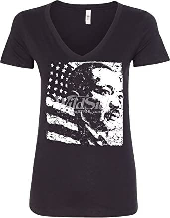 Martin Luther King Jr Day Women/'s V-Neck T-shirt Civil Rights Movement Tee