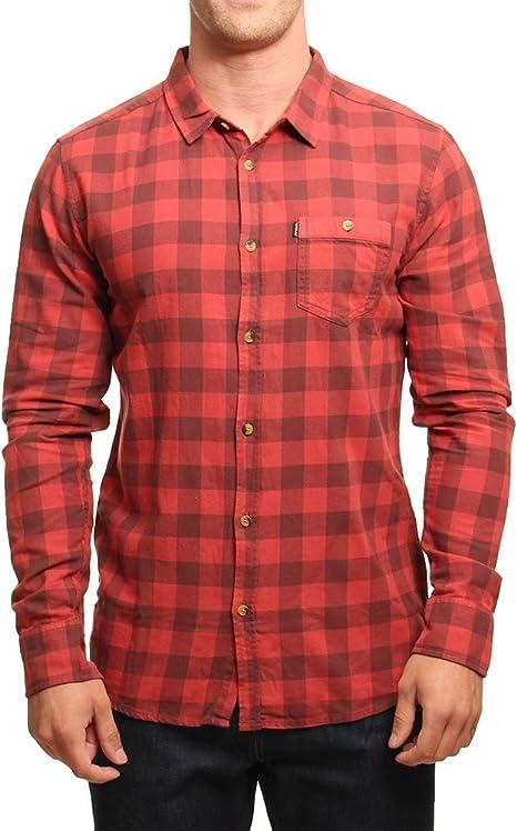 RIP CURL Check It LS Shirt Camisa, Hombre, Rojo, S: Amazon.es: Deportes y aire libre