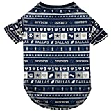 NFL Dallas Cowboys Pet Ugly Tee Shirt, Small
