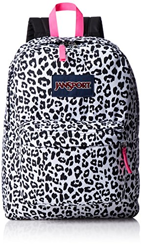 JanSport Unisex SuperBreak White Leopard Backpack