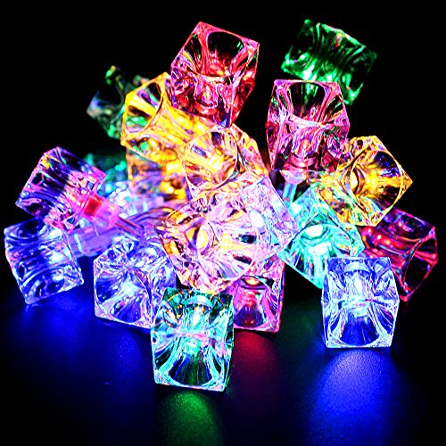 Battery Operated Ice Cube LED Christmas String Lights – Multi Color String Light, 2 Work Modes Battery Box, 7.3ft Length 20 Cubes for Christmas, Holiday, Party, Event Decorative Lighting by TORCHSTAR (Image #2)