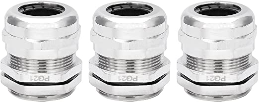 Plastic Nylon Waterproof Wire Connector Fitting 10-14mm 5Pack PG16 Cable Gland