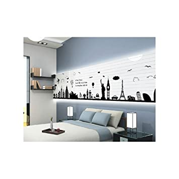 World map silhouette wall sticker london paris world travel design world map silhouette wall sticker london paris world travel design removable repositionable publicscrutiny Image collections