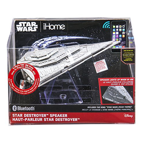 092298924694 - Star Wars Bluetooth Speaker - The Force Awakens First Order Star Destroyer Villain Flagship Lights Up When In Use carousel main 2