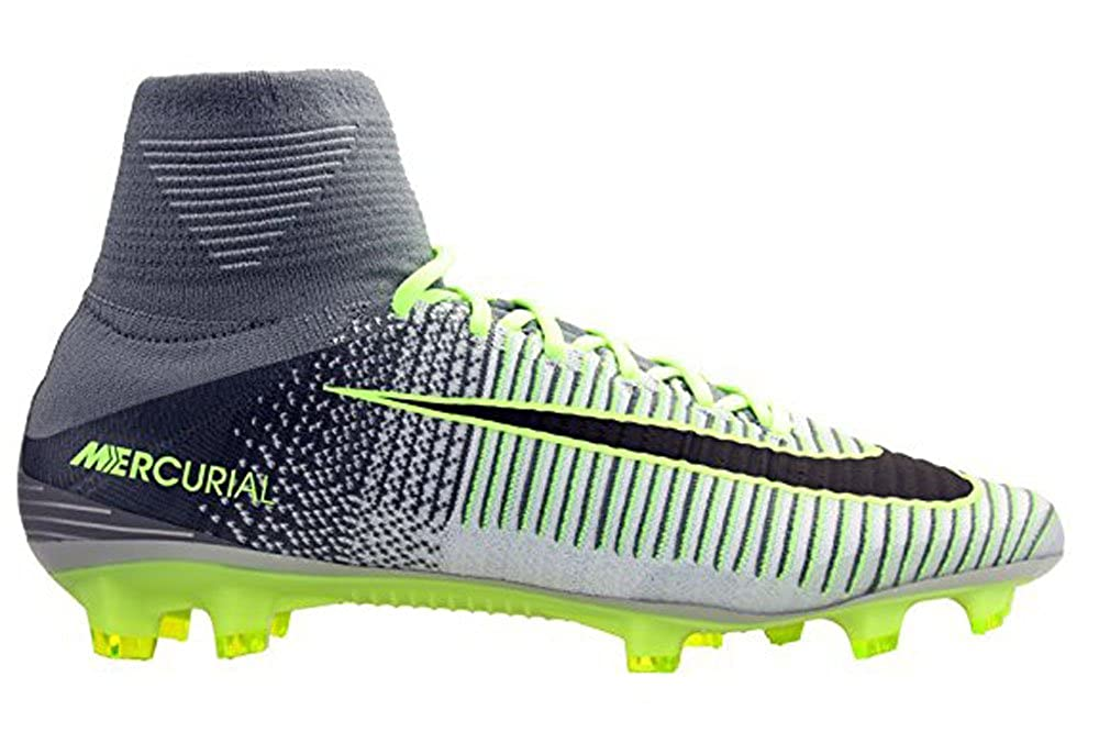 Plateado (Pure Platinum   noir-ghost vert) Nike Mercurial Superfly V FG, Chaussures de Football Homme 38.5 EU