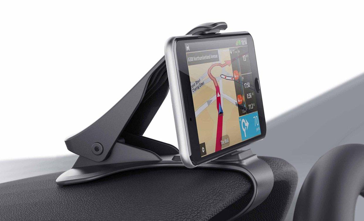 Soporte para Telé fono de Coche Montaje Mó vil Universal 3.0-6.5 Pulgadas Sujeta de Pinza Fuerte al Salpicadero para Todos los Smartphones/Mó viles iPhone 5/6/7/8/X y Plus Samsung Huawei Xiaomi HTC LG CompraFun