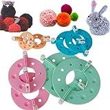 SUMERSHA DIY Tool Kit Outil de Pompon Machine à Pompon Maker Peluches Couleur Aléatoire 1 Set 8pcs