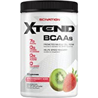 Scivation Xtend BCAA Powder, Branched Chain Amino Acids, BCAAs, Strawberry Kiwi, 30 Servings