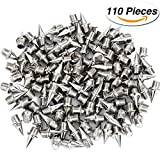 Hicarer 110 Pieces 1/ 4 Inch Steel Track and Cross Country Spikes Replacement Shoe Track Spikes, Silver Color