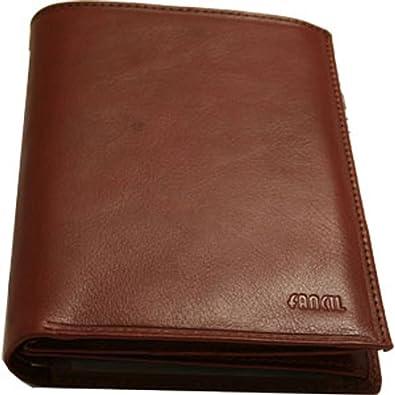 Portefeuille en cuir marron PMJ4zr97z