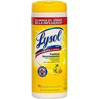 Lysol Toallitas Desinfectantes, Citrus Scent,Amarillo, 1 unidad, empaque puede variar