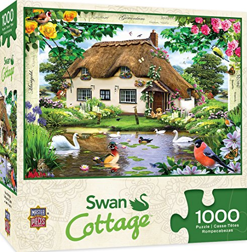 MasterPieces Flower Cottages Swan Cottage 1000 Piece Jigsaw Puzzle by Howard Robinson