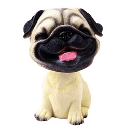 898a11ca2ef Image Unavailable. Image not available for. Color  OZUKO Pug Bobblehead ...