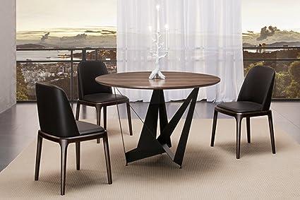 Table A Manger Ronde.Table A Manger Ronde Design Marron En Bois Antas