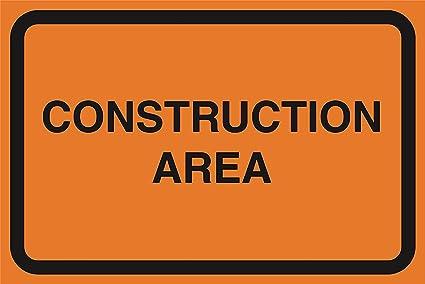 Aviso de seguridad advertencia de zona de construcción Zona ...