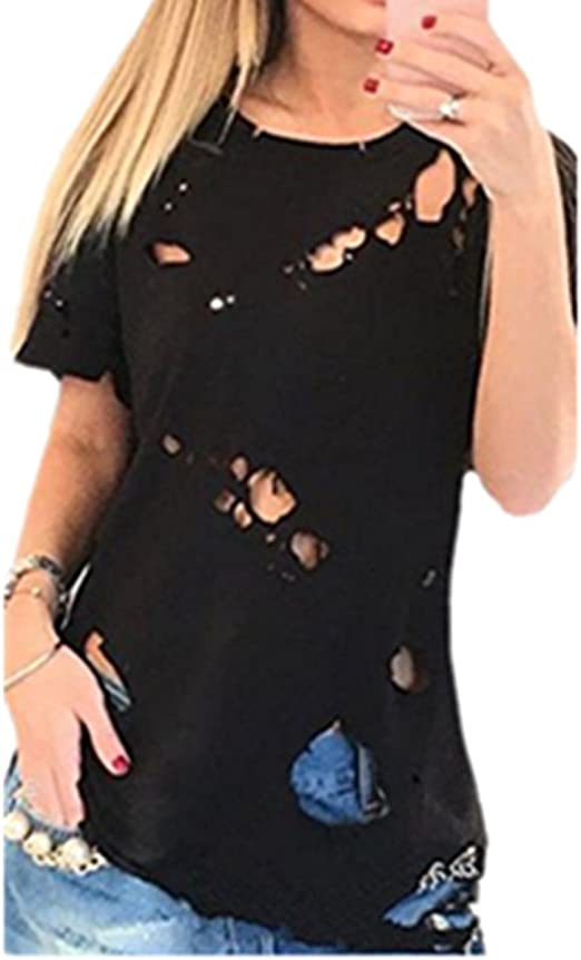 ripped t shirt women's