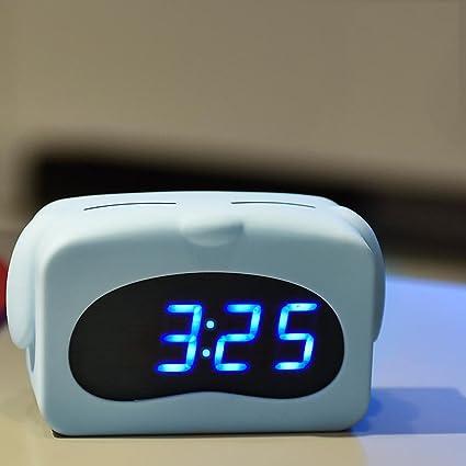 SFM MSF Relojes de Pared Moderno Minimalista Inteligente Reloj de Alarma LED Creativo Electrónico Luminoso Mudo