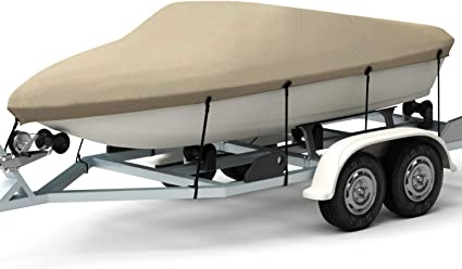 GREY BOAT COVER FITS Bayliner 1954 Classic 2003 TRAILERABLE