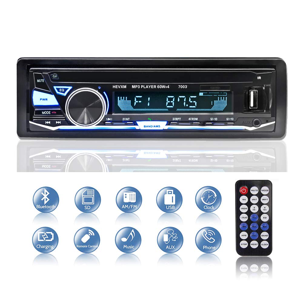 Autoradio Bluetooth, BETECK Radio Coche Bluetooth Reproductor de Mp3, USB/SD/AUX