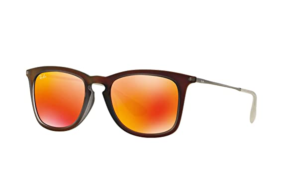 1cef87bc626 Amazon.com  Ray-Ban RB4221F Sunglasses Shot Red Rubber Brown Mirror ...