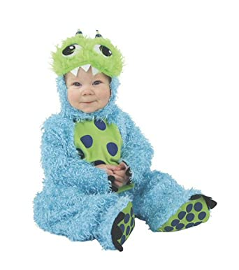 fluffy toddler kids blue monster halloween costume size 18mo 2t