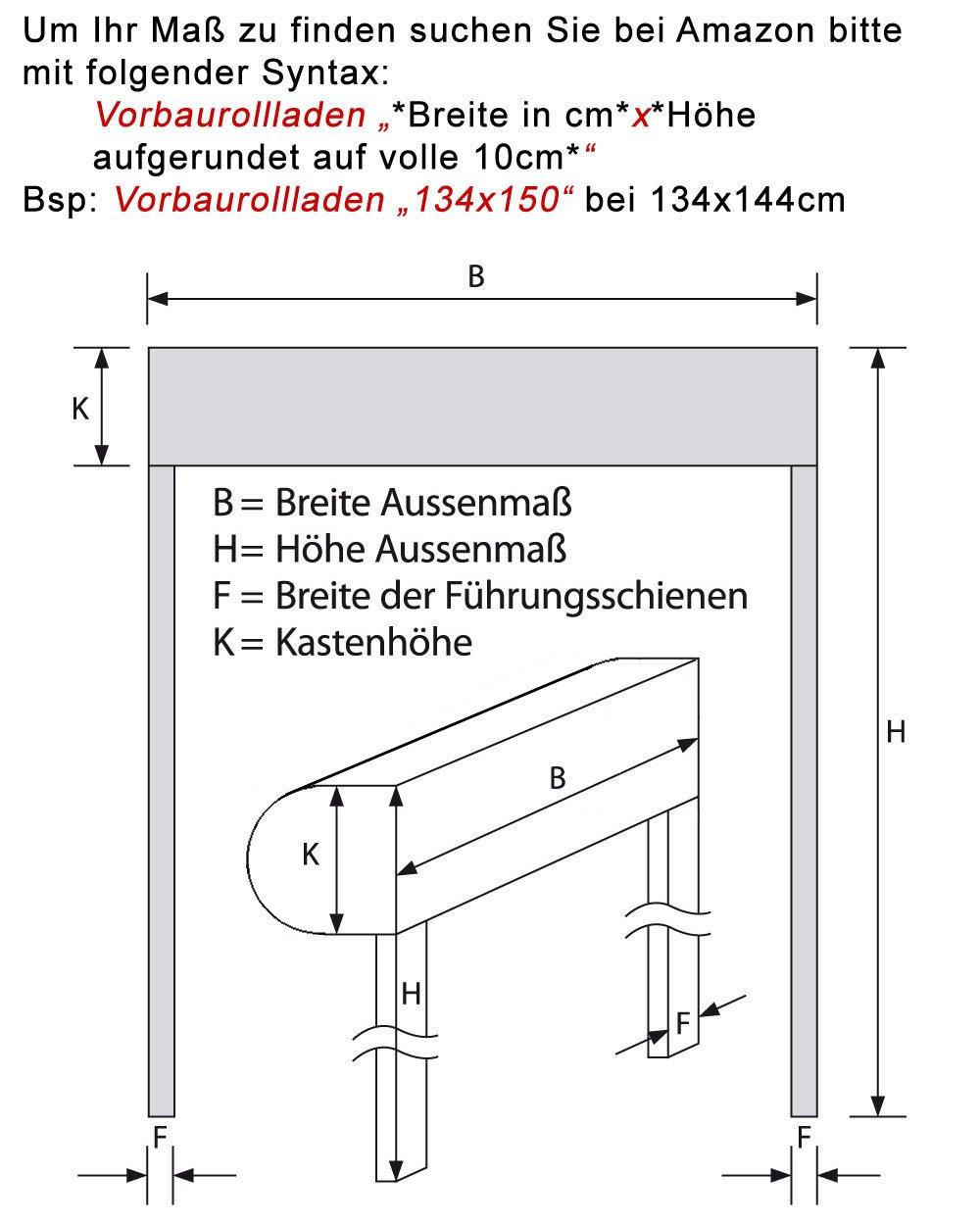 Vorbaurollladen Typ Typ Typ Loop, 39mm Aluminium-Lamelle 110x120cm mit Motor, Bedienseite  Links, (weiß (ähnlich RAL 9010)) als Maßanfertigung e20924