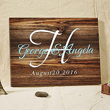 Wedding Guest Book Rustic Wooden Guest Book Sign Custom