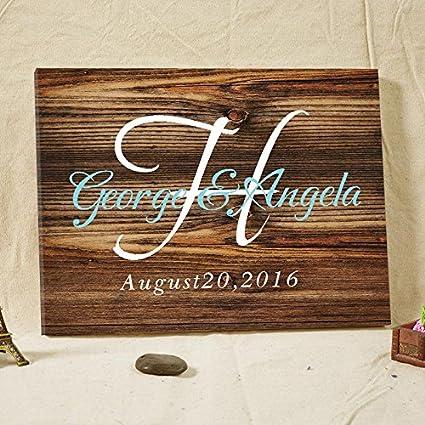 Amazon Wedding Guest Book Rustic Wooden Guest Book Sign Custom