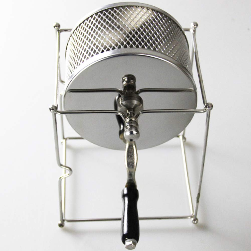SODIAL Stainless Steel Coffee Roaster Manual Hand-Operated Rotary Gas Alcohol Stove Bean Baking Maker Espresso Machine