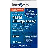 Amazon Basic Care Multi-Symptom Nasal Allergy Spray, Triamcinolone Acetonide, 55 mcg per spray, White, 0.57 Fl.Oz