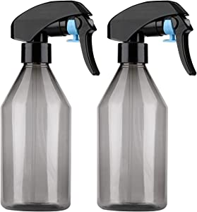 Yebeauty Plant Mister Spray Bottle, 2Pcs 10oz Fine Mist Plant Atomizer Watering Sprayer Bottle for Gardening Cleaning Solution with Top Pump Trigger Water, Black