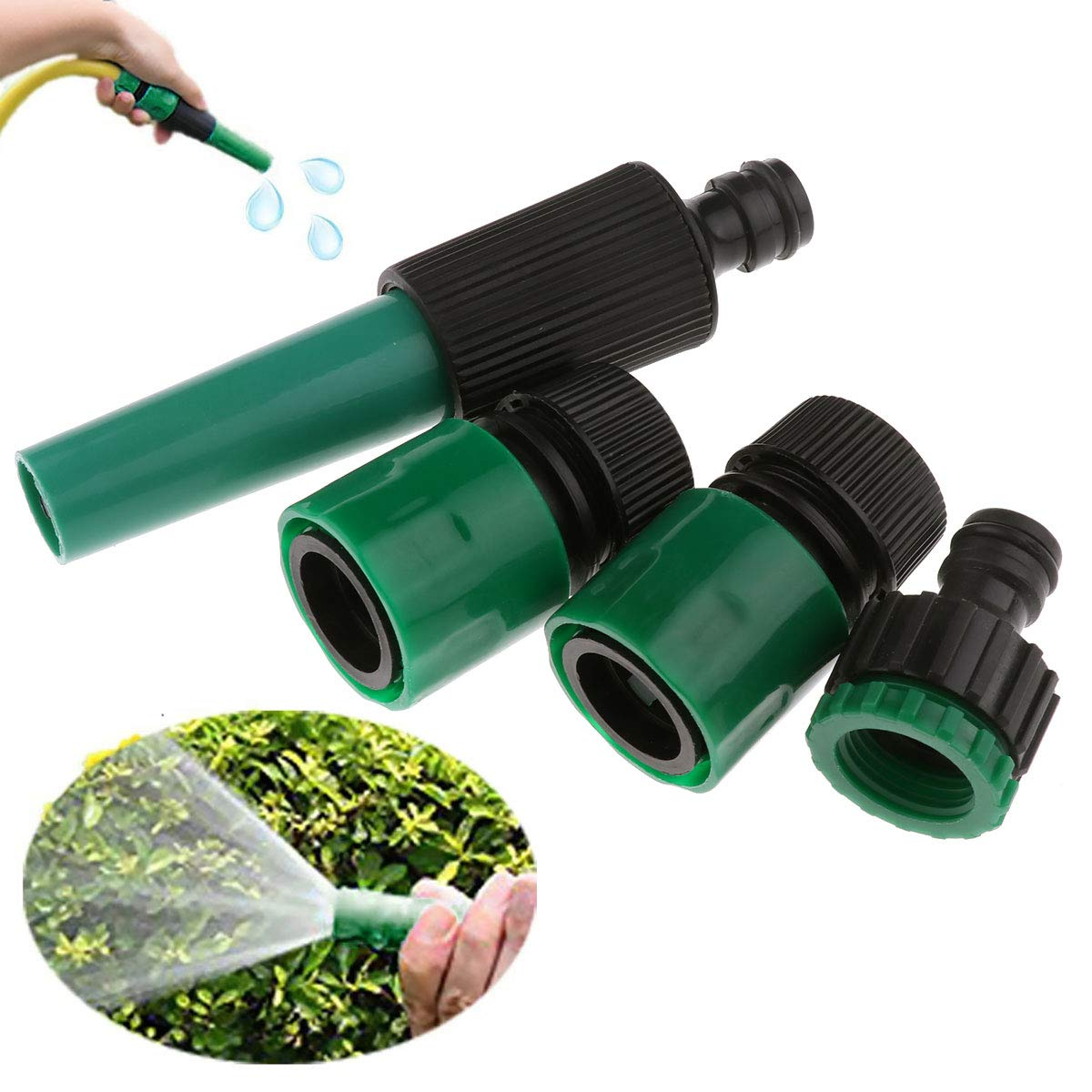 CHICTRY Garden Sprinkler Sprayer Nozzle Green High Pressure Plant Watering Devices Irrigation System for Lawn Gardening Car Washing and Pet Bathing