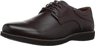 Propét Mens Grisham Leather Low Top Lace Up Fashion Sneakers