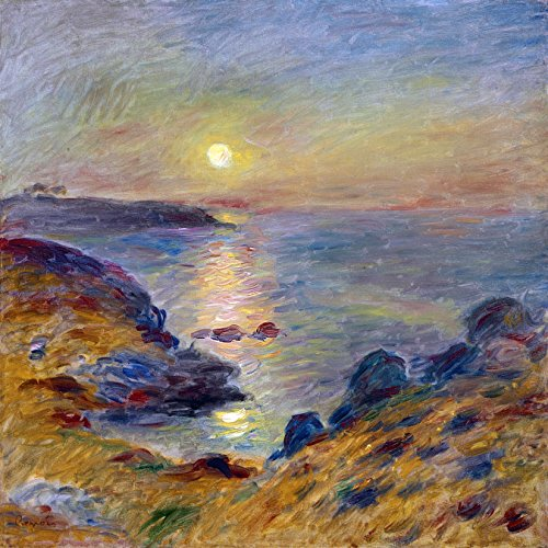 Seascape sunset sea beach by Pierre-Auguste Renoir Accent Tile Mural Kitchen Bathroom Wall Backsplash Behind Stove Range Sink Splashback One Tile 8