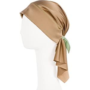 WEAR EVERYWHERE Premium Non-Slip Silk Scarves (Medium, Sandy Gold)