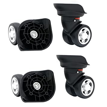 80e680303e4b Replacement Luggage Wheel Repair Suitcase Bag Parts Spinner Wheels (W055)  for Customs Box (A Set 4 pcs)