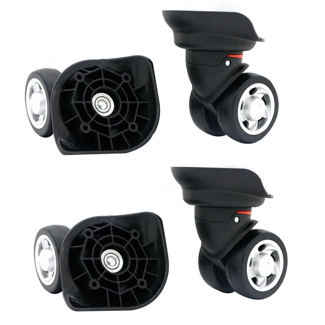 Replacement Luggage Wheel Repair Suitcase Bag Parts Spinner Wheels (W055) for Customs Box (A Set 4 pcs)