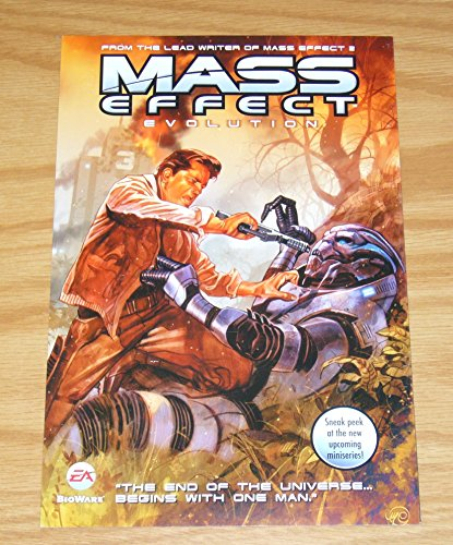 Mass Effect: Evolution comic book series fold-out preview flyer - based on video games ; Dark Horse