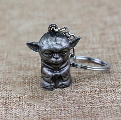 Star Wars Llavero 3D Figura Maestra Yoda Colgante Llavero ...