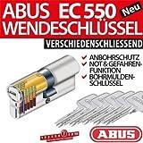 ABUS EC550 Cylindre de serrure avec 5 clés 40/40 mm