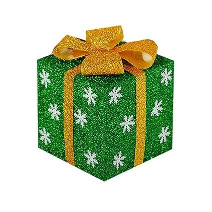 SLIANG Caja Exterior Árbol de Navidad decoración Caja Regalo Bolsa PVC Regalo decoración (Color :