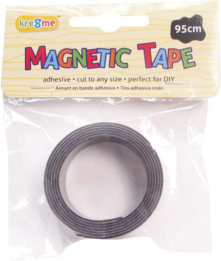 95cm x 20mm Self Adhesive Magnetic Adhesive Strips Tape Strong Durable Craft
