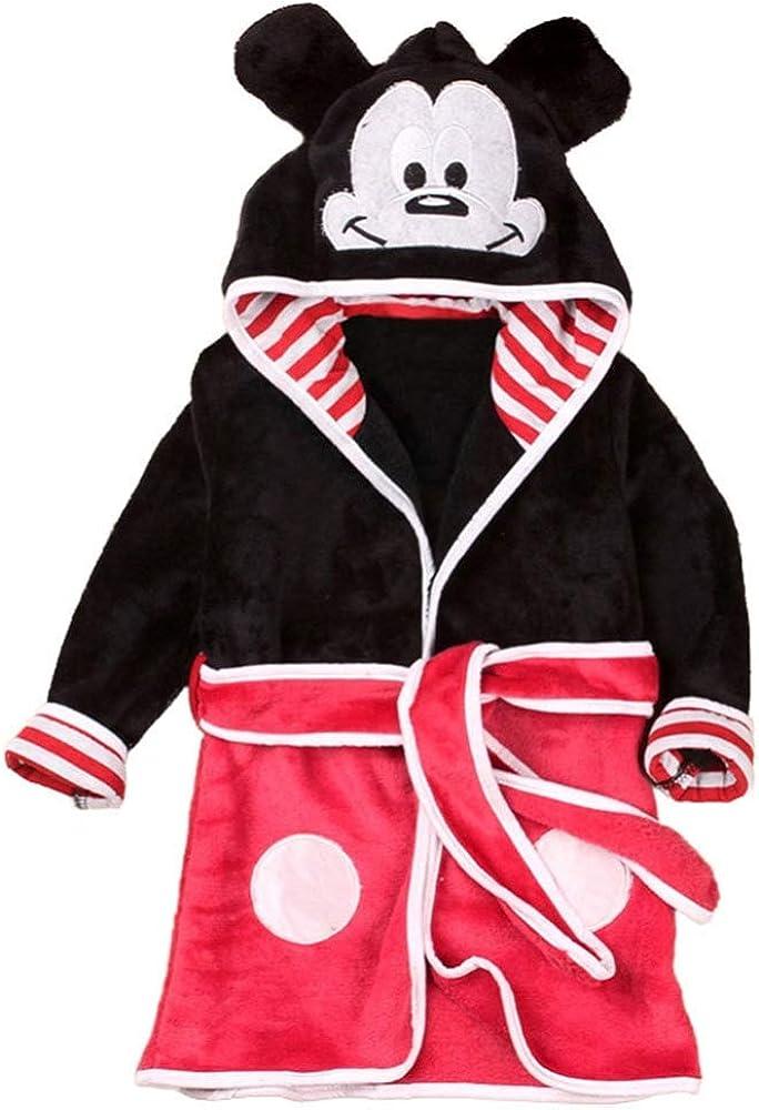 Morbido Pile da Camera Vestaglia Lovelegis Mickey Mouse Accappatoio Notte Topolino Personaggi Bambino con Cappuccio Pigiama